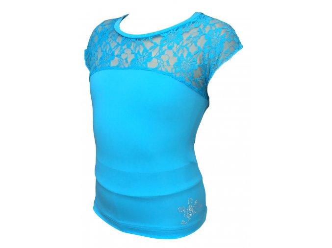 Tričko ICEDREAM s krajkou - tyrkysové