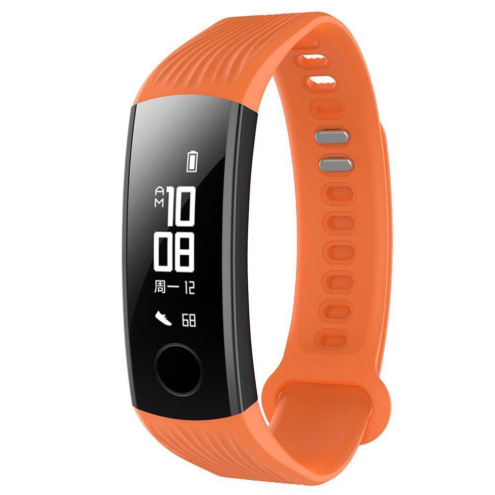 Silikonový vyměnitelný pásek / řemínek pro Huawei Honor Band 3 - oranžový