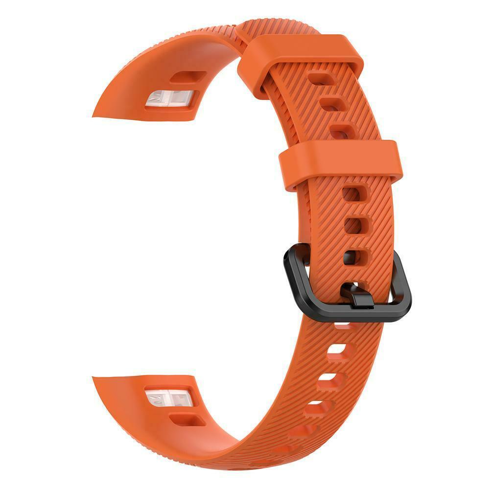 Silikonový vyměnitelný pásek / řemínek pro Huawei Band 3 Pro - oranžový