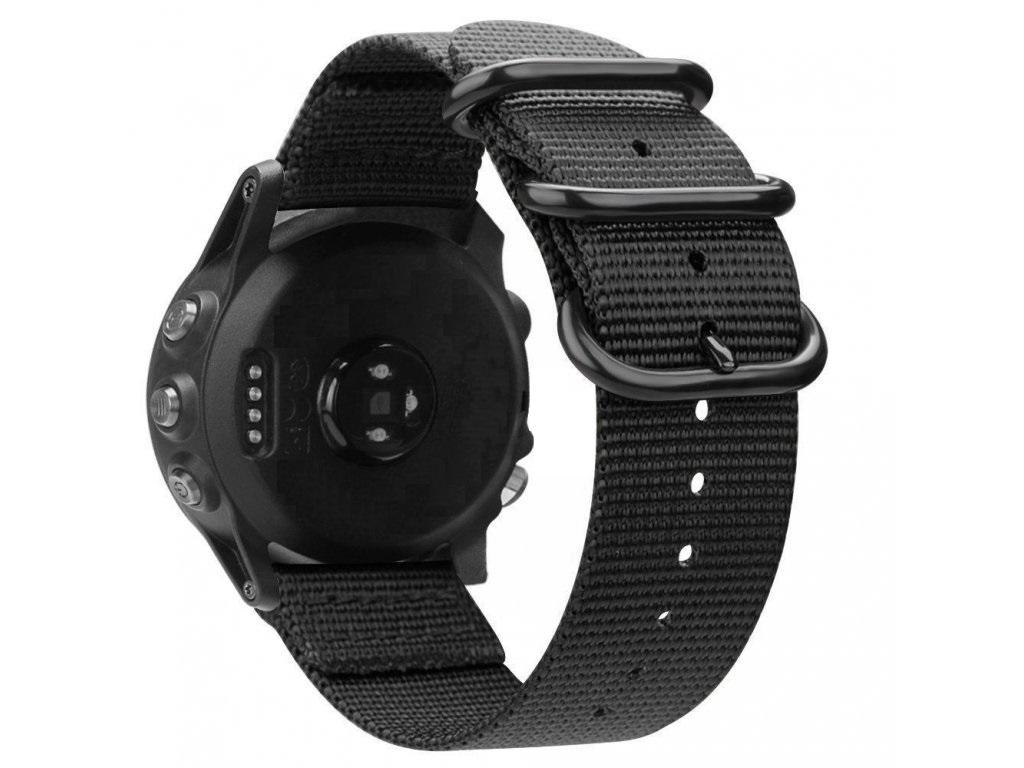 Nylonový vyměnitelný pásek / řemínek pro Garmin Approach S60 - černý