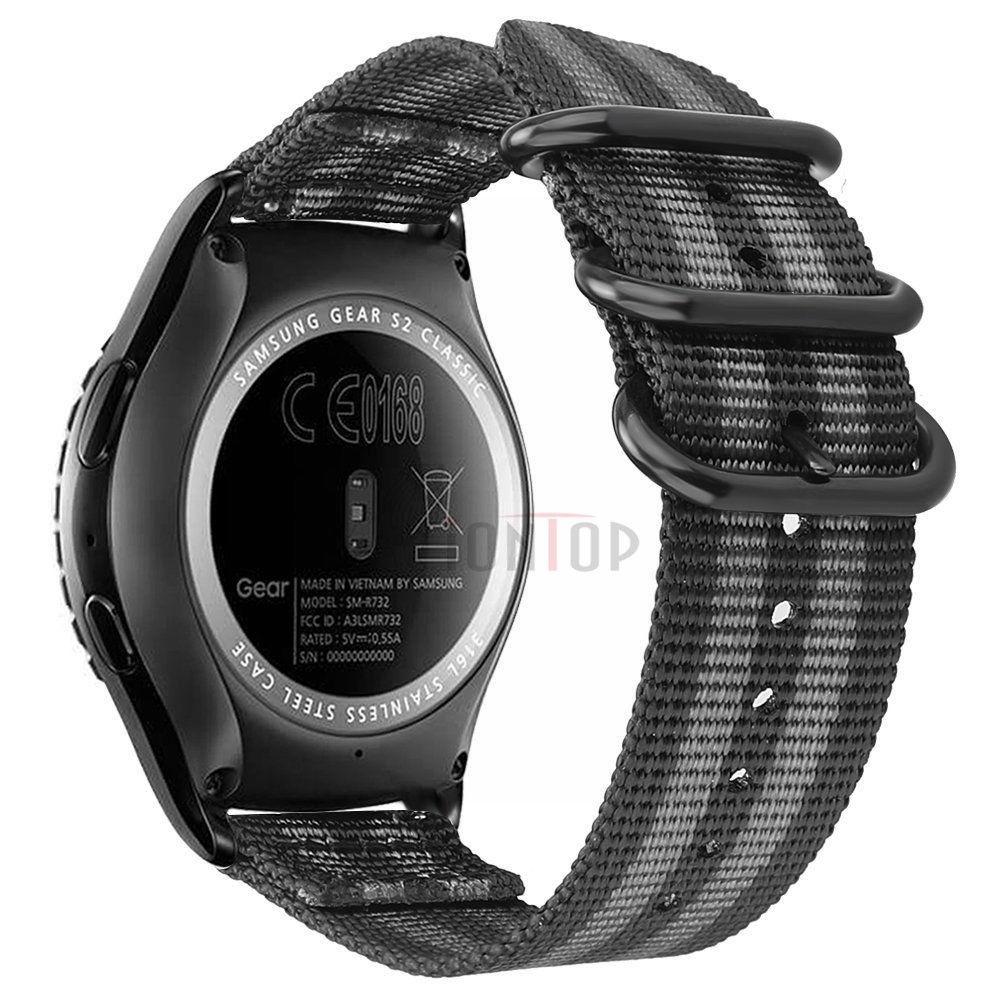 Nylonový vyměnitelný pásek / řemínek pro Garmin Approach S60 - šedo černý