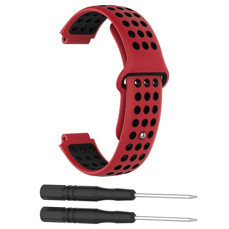 Silikonový vyměnitelný pásek / řemínek pro Garmin Forerunner 630 - červeno černý