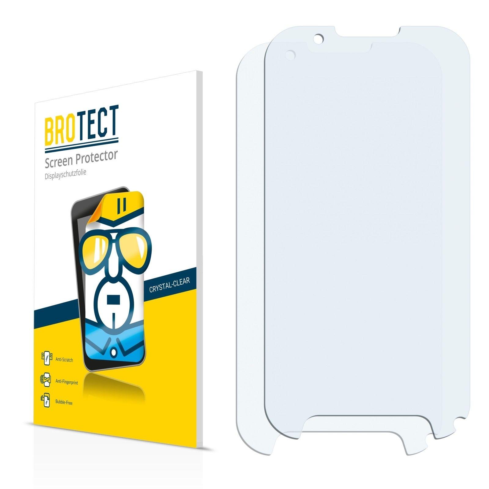 2 ks Ochranná fólie Brotec HD na LCD pro Evolveo StrongPhone D2