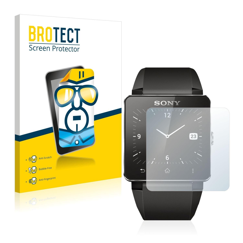 2 ks Ochranná fólie Brotec HD na LCD pro Sony Smartwatch 2
