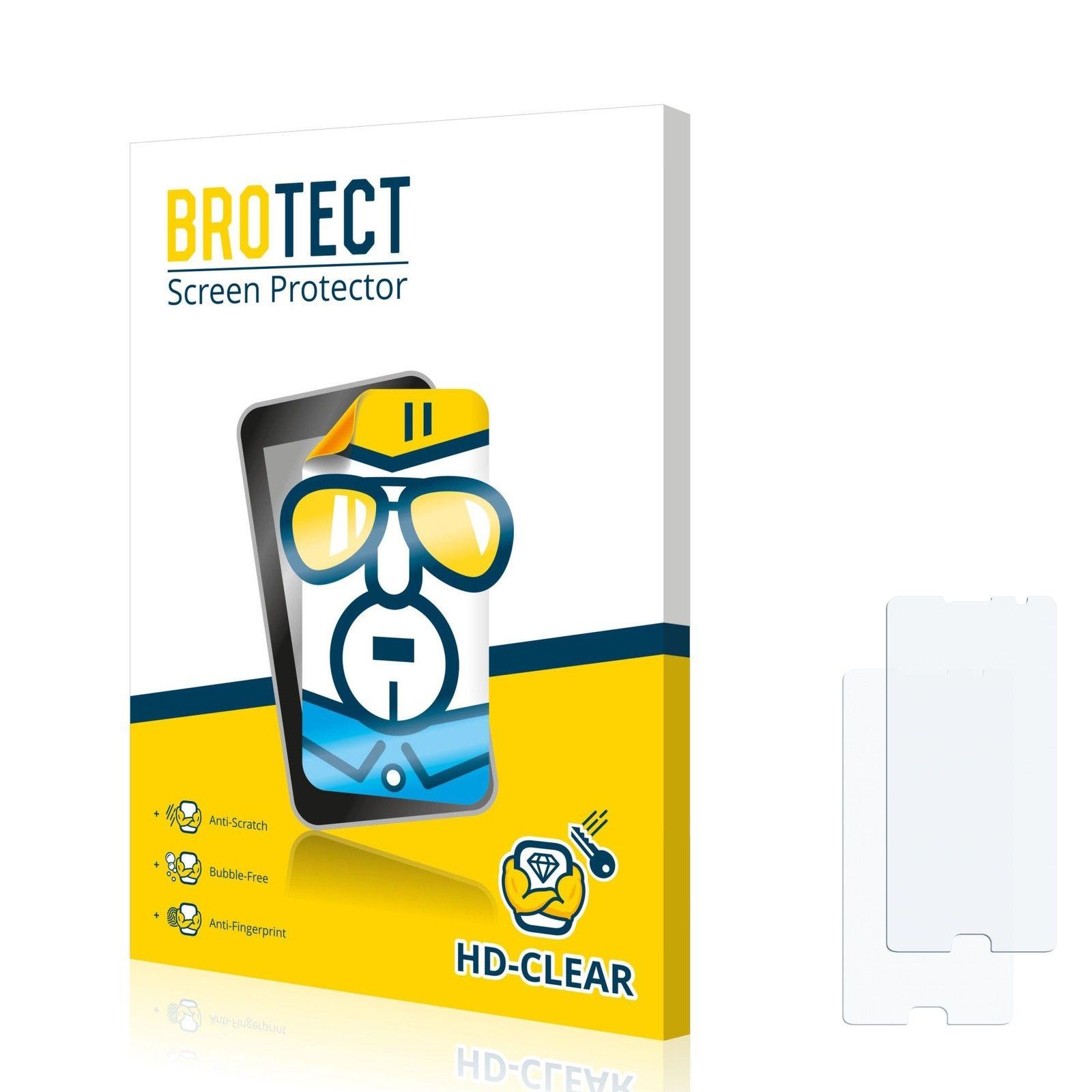 2 ks Ochranná fólie Brotec HD na LCD pro Vodafone Smart Ultra 7