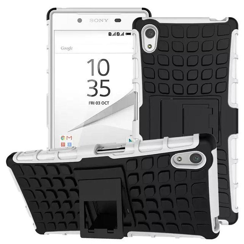 Antishock odolné HYBRID ochranné pouzdro pro Sony Xperia Z5 Premium (E6853) - bílé