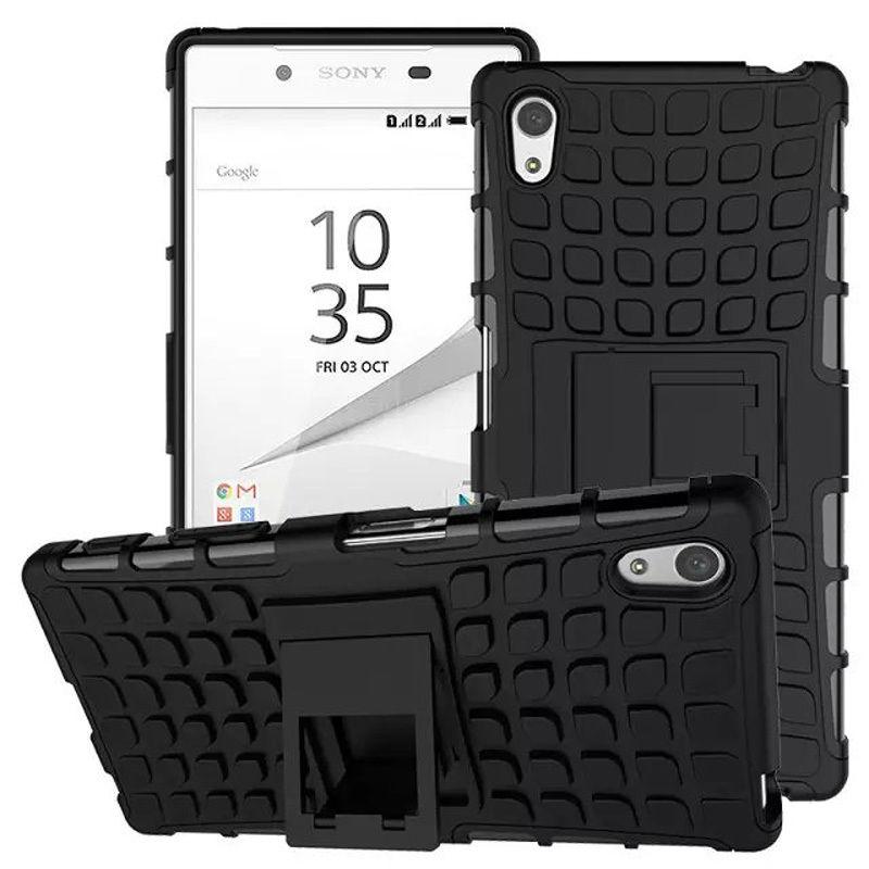 Antishock odolné HYBRID ochranné pouzdro pro Sony Xperia Z5 Premium (E6853) - černé