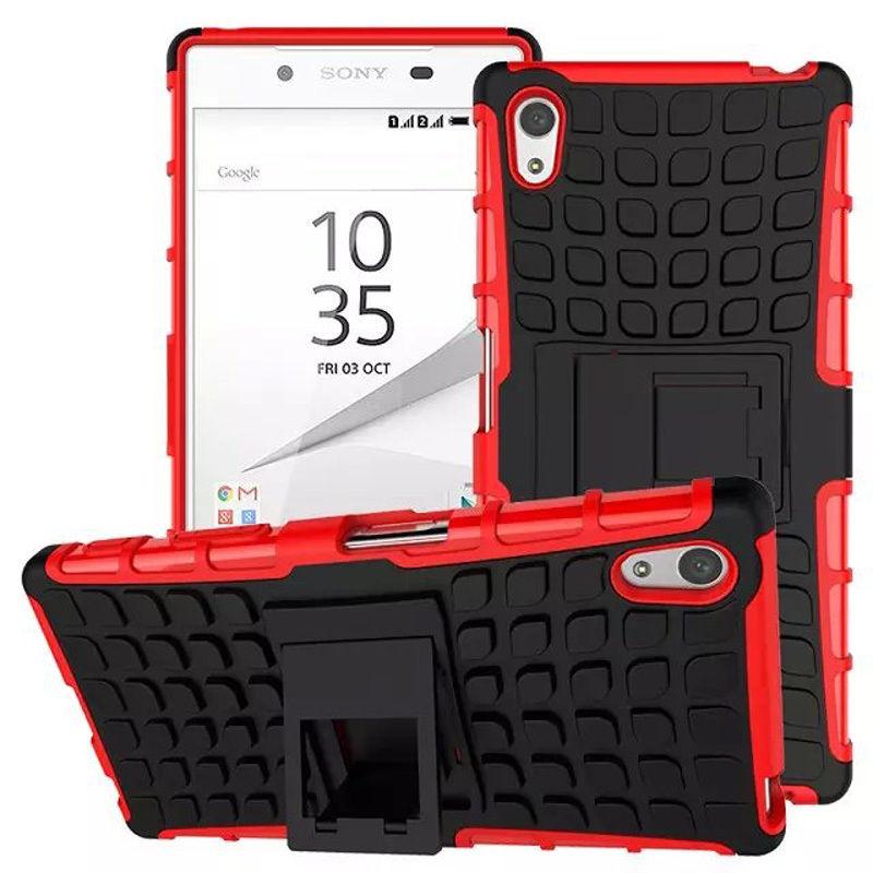 Antishock odolné HYBRID ochranné pouzdro pro Sony Xperia Z5 Premium (E6853) - červené