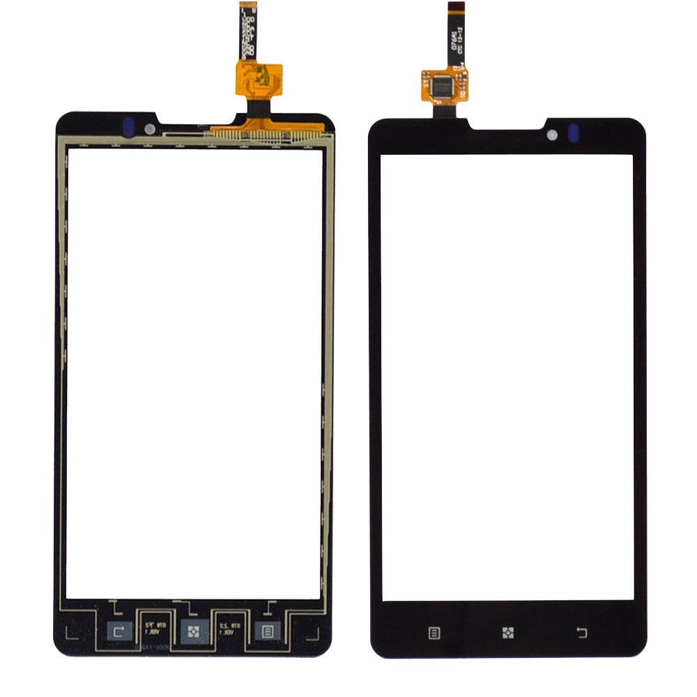 Digitizer - dotykové sklo (plocha) LCD displeje pro Lenovo P780 - černý
