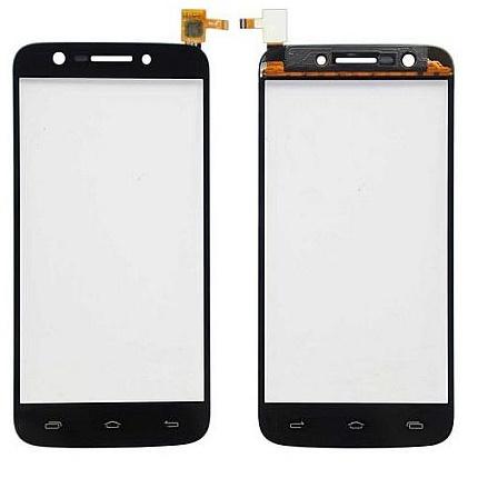 Digitizer - dotykové sklo (plocha) LCD displeje pro Prestigio MultiPhone PAP 5508 DUO- černý