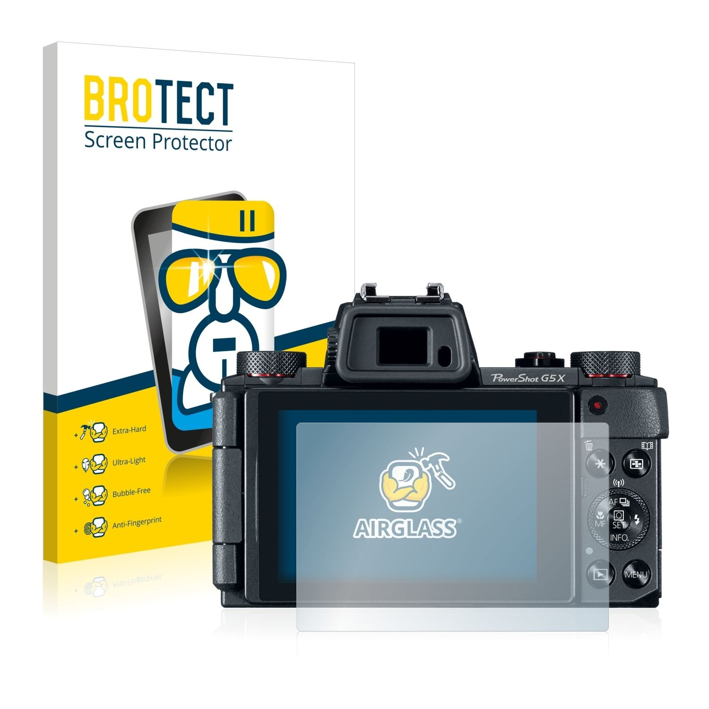 Extra tvrzená ochranná fólie (tvrzené sklo) AirGlass Brotec na LCD pro Canon Powershot G5 X