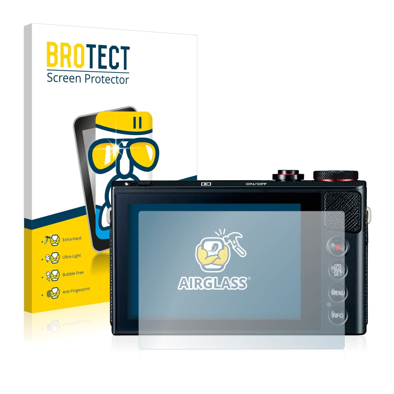 Extra tvrzená ochranná fólie (tvrzené sklo) AirGlass Brotec na LCD pro Canon Powershot G9 X