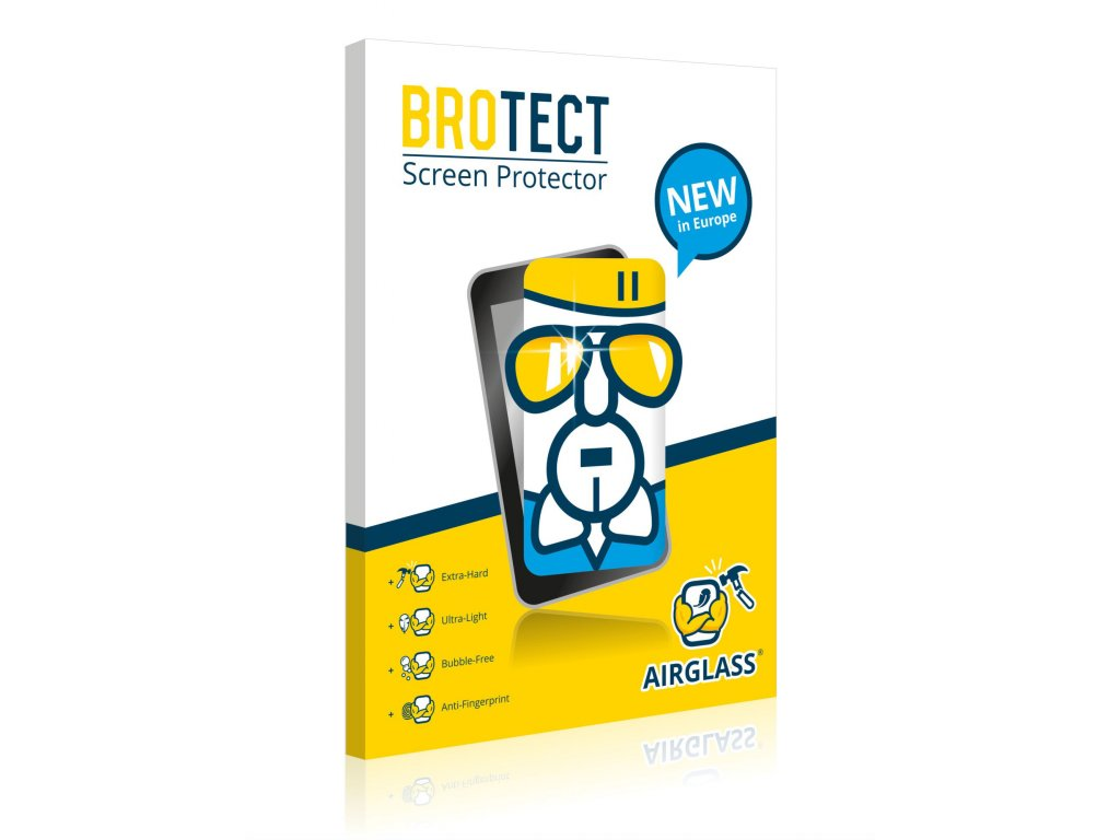 Extra tvrzená ochranná fólie (tvrzené sklo) AirGlass Brotec na LCD pro Evolveo StrongPhone D2 Mi
