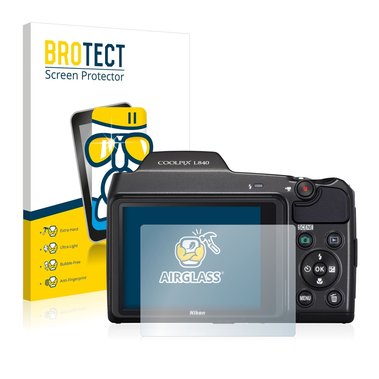 Extra tvrzená ochranná fólie (tvrzené sklo) AirGlass Brotec na LCD pro Nikon Coolpix L840