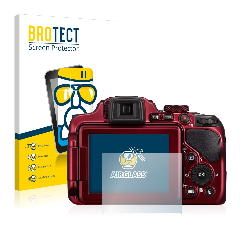 Extra tvrzená ochranná fólie (tvrzené sklo) AirGlass Brotec na LCD pro Nikon Coolpix P600