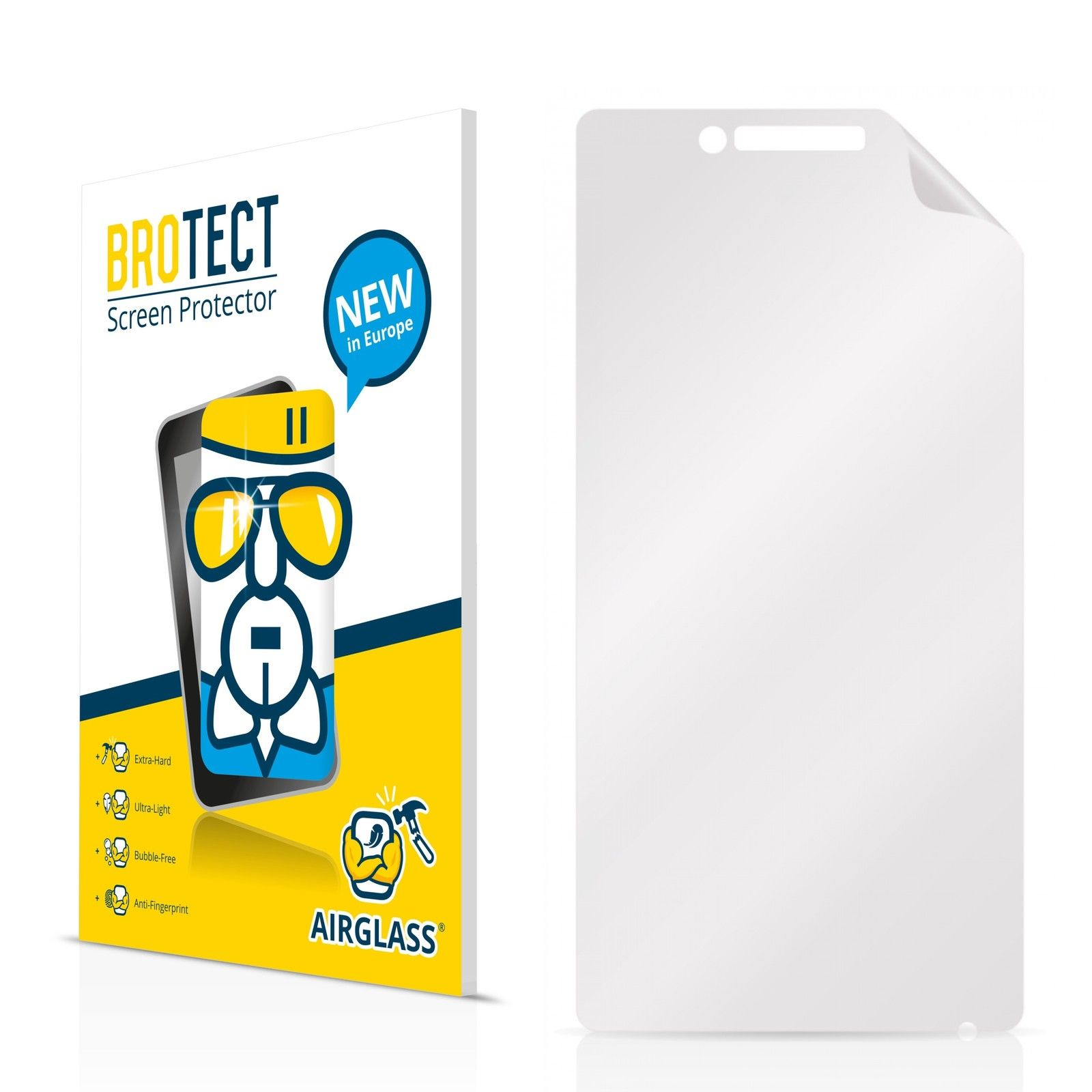 Extra tvrzená ochranná fólie (tvrzené sklo) AirGlass Brotec na LCD pro Prestigio MultiPhone 5451 DUO