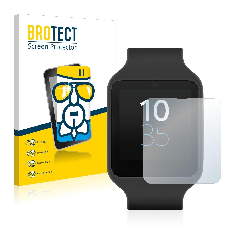 Extra tvrzená ochranná fólie (tvrzené sklo) AirGlass Brotec na LCD pro Sony Smartwatch 3 SWR50