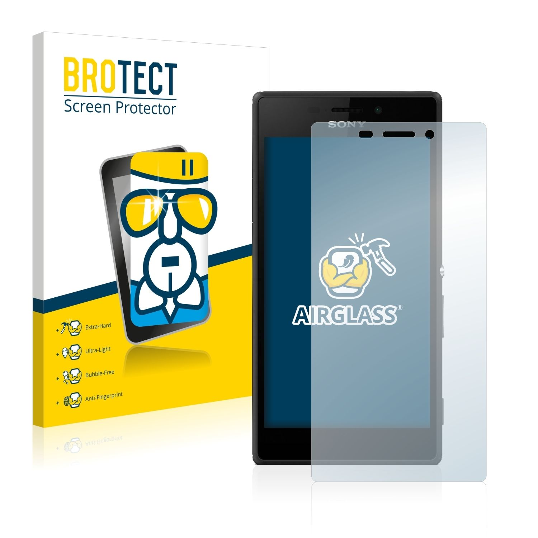 Extra tvrzená ochranná fólie (tvrzené sklo) AirGlass Brotec na LCD pro Sony Xperia M2