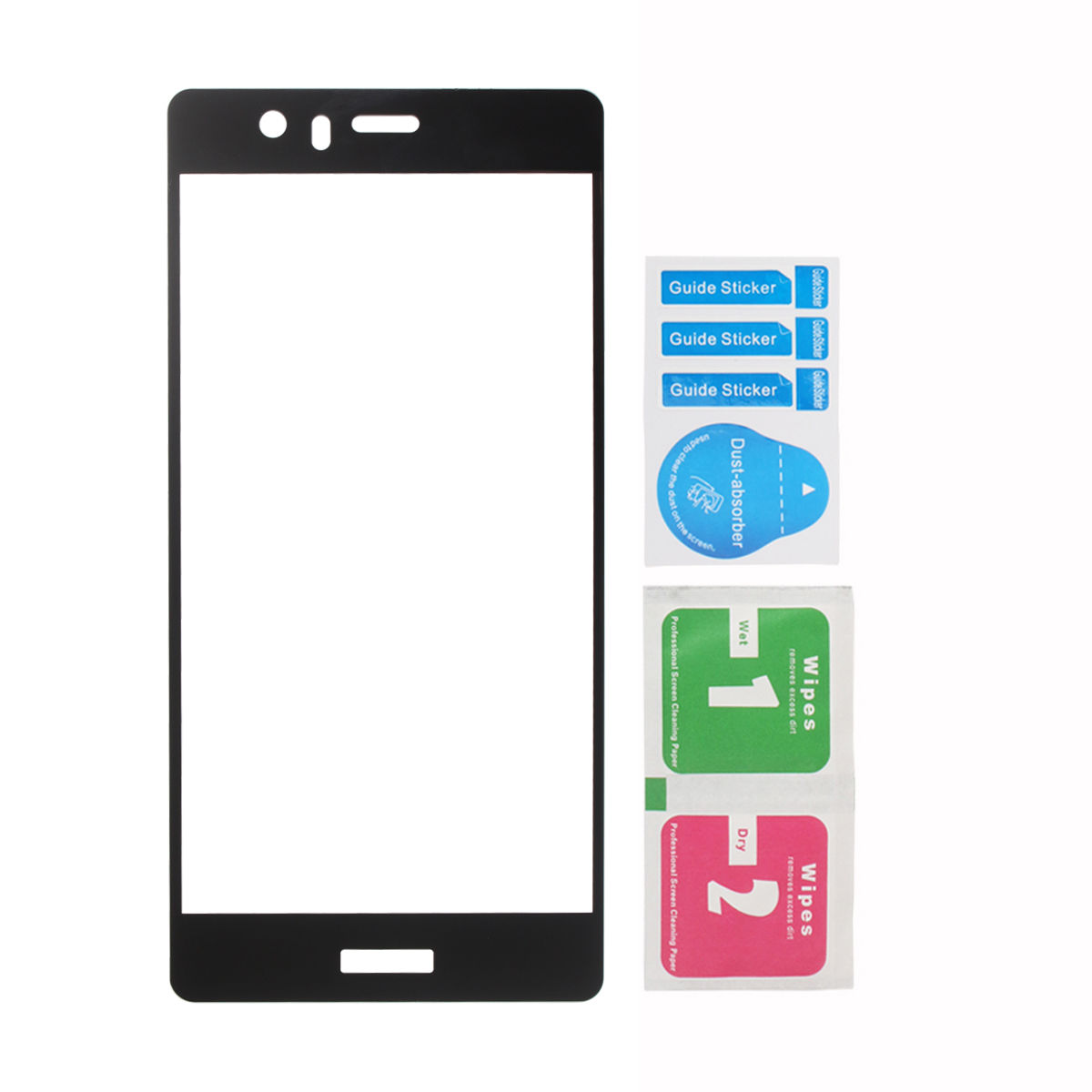 25aad9dd00 3D ochranné tvrzené temperované sklo na LCD pro Huawei P9 - černé
