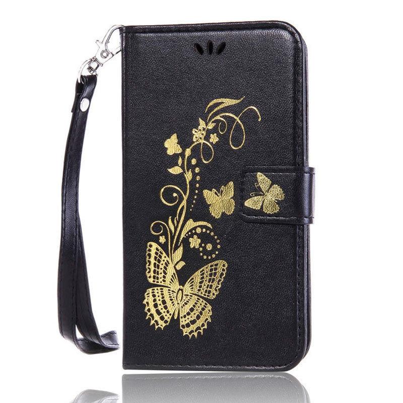 Flipové peněženkové BUTTERFLY pouzdro pro Sony Xperia Z5 Compact - černé