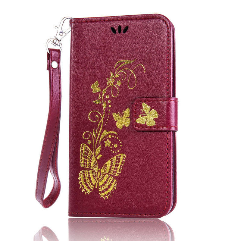 Flipové peněženkové BUTTERFLY pouzdro pro Sony Xperia Z5 Compact - hnědé