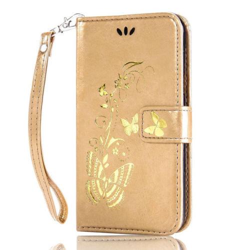 Flipové peněženkové BUTTERFLY pouzdro pro Sony Xperia Z5 Compact - zlaté