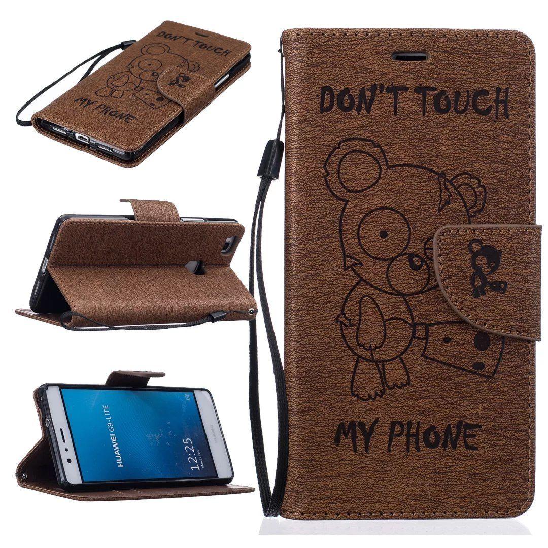 Flipové peněženkové DON'T TOUCH MY PHONE pouzdro pro Samsung Galaxy A3 2016 (A310F) - hnědé