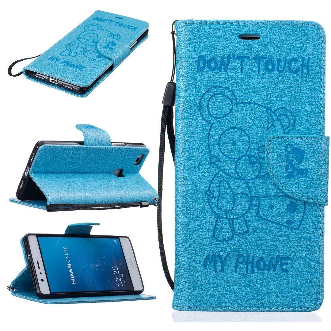 Flipové peněženkové DON'T TOUCH MY PHONE pouzdro pro Samsung Galaxy A3 2016 (A310F) - modré