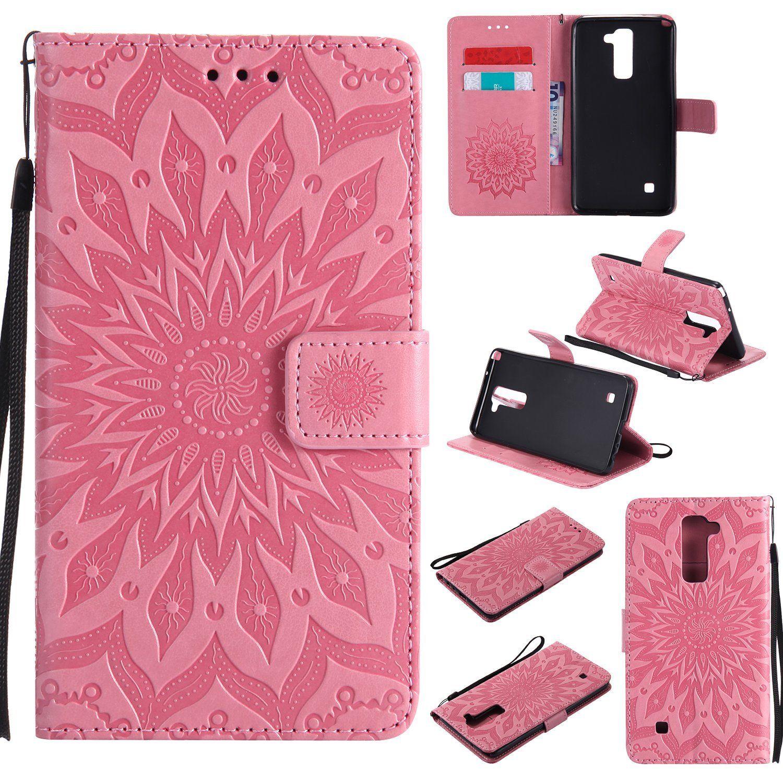 Flipové peněženkové SUNFLOWER pouzdro peněženka pro Huawei P20 Lite - růžové tmavé