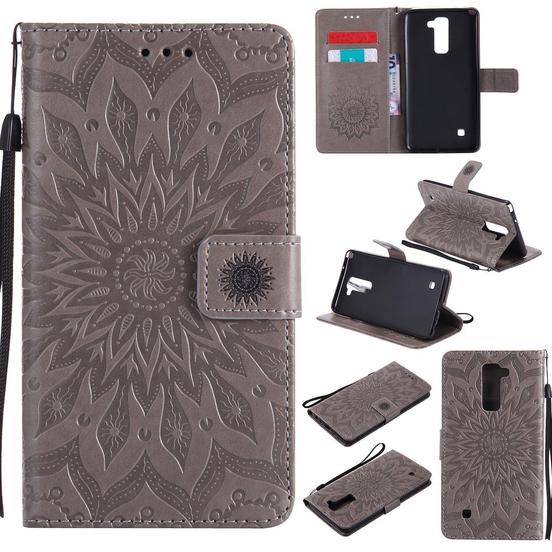 Flipové peněženkové SUNFLOWER pouzdro peněženka pro Huawei P20 Pro - šedé