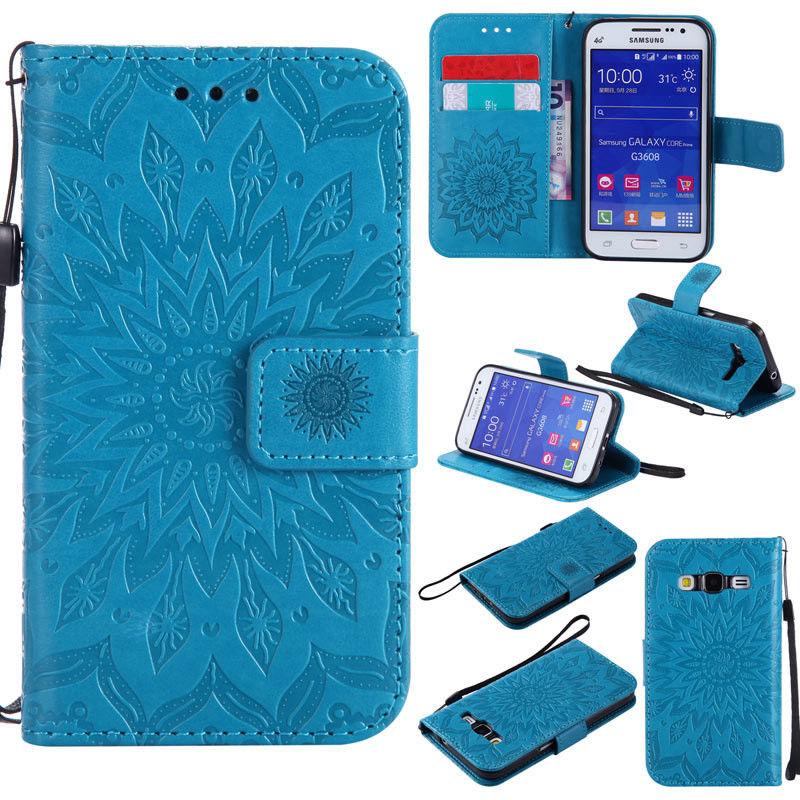 Flipové peněženkové SUNFLOWER pouzdro pro Samsung Galaxy Core Prime (G360) - modré