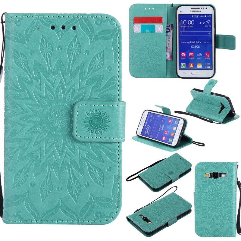 Flipové peněženkové SUNFLOWER pouzdro pro Samsung Galaxy Core Prime (G360) - zelené
