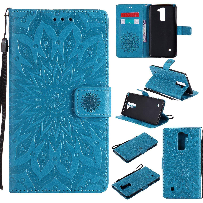 Flipové peněženkové SUNFLOWER pouzdro pro Samsung Galaxy J5 2017 - modré