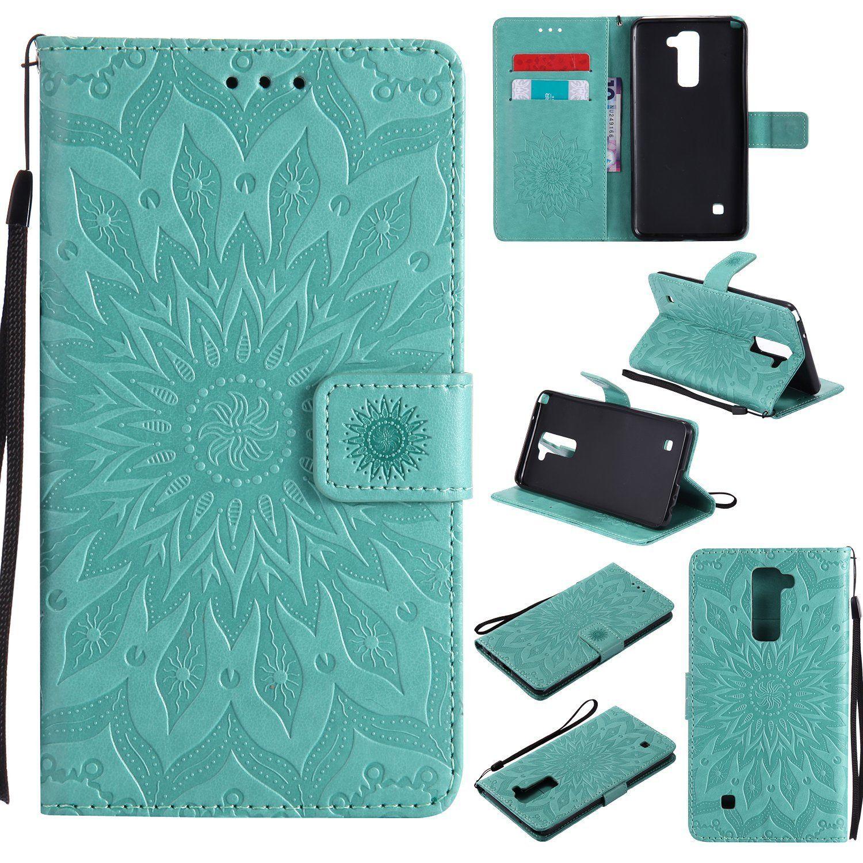 Flipové peněženkové SUNFLOWER pouzdro pro Samsung Galaxy J5 2017 - zelené