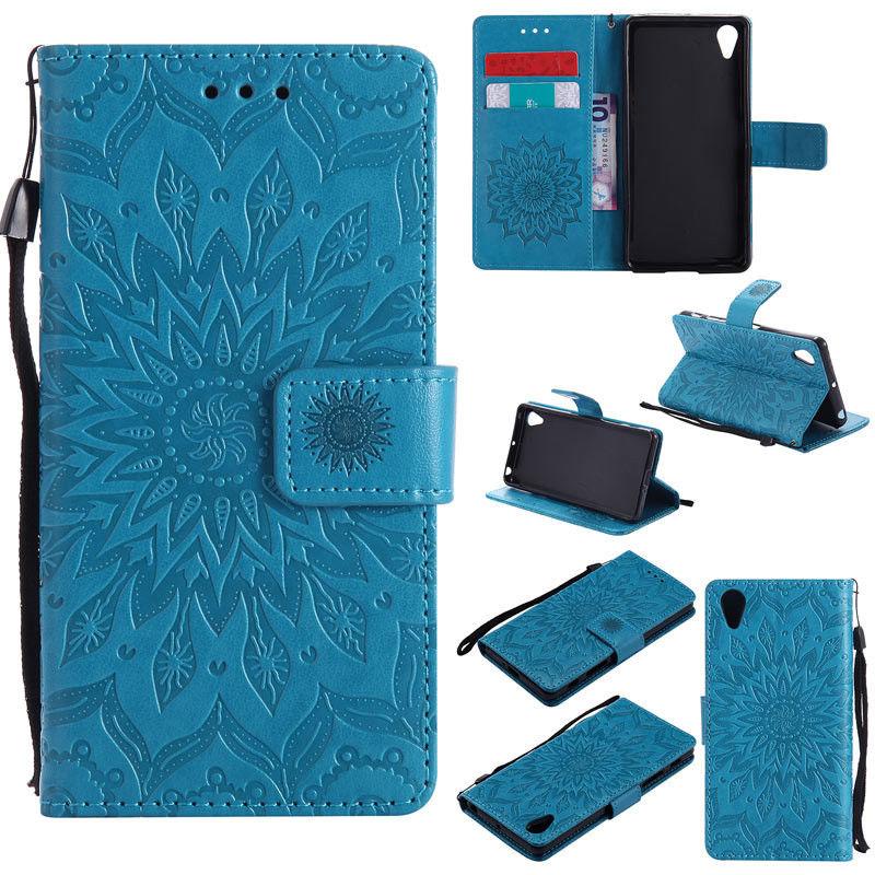 Flipové peněženkové SUNFLOWER pouzdro pro Sony Xperia M4 Aqua - modré