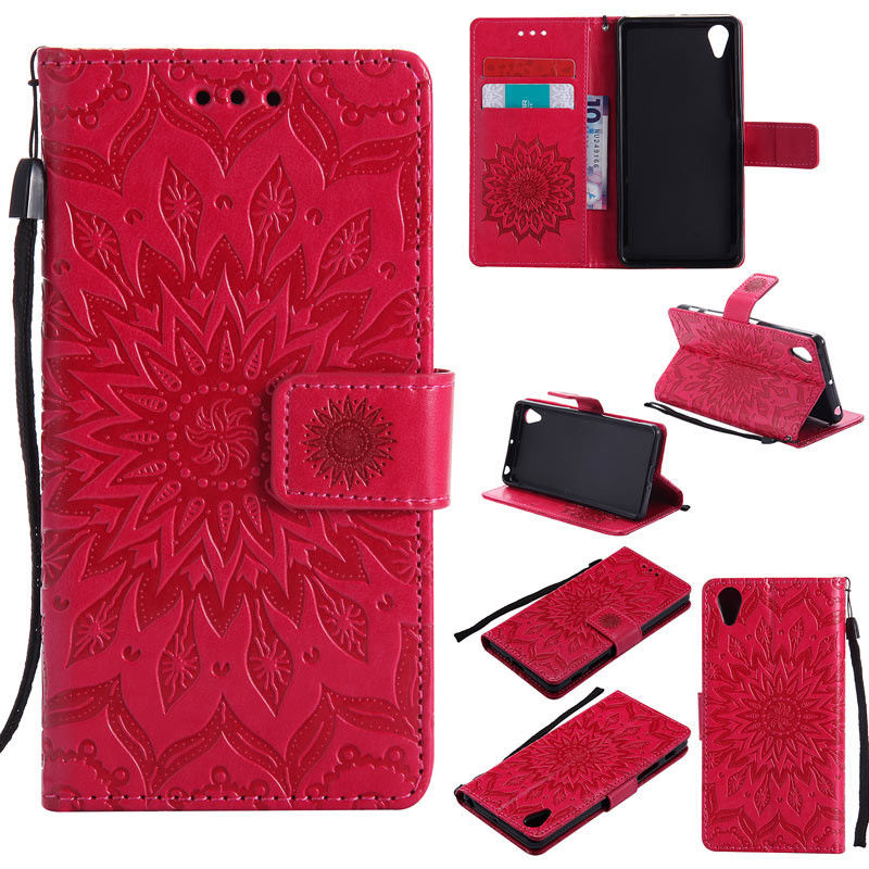 Flipové peněženkové SUNFLOWER pouzdro pro Sony Xperia Z3 (D6603) - červené