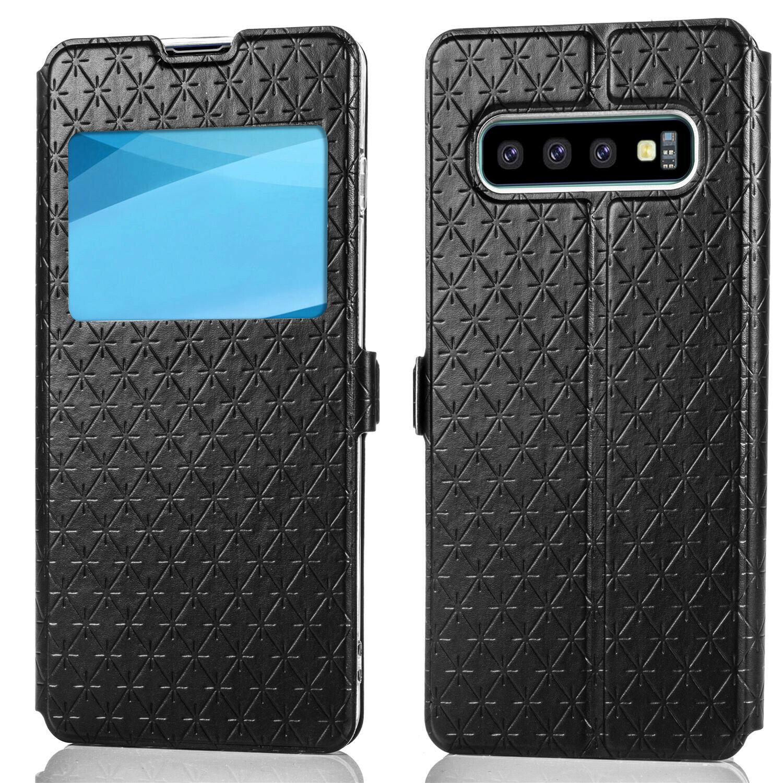 Flipové peněženkové VIEW WINDOW pouzdro pro Samsung Galaxy S7 (SVII G930F) - černé