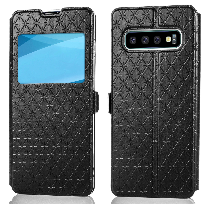 Flipové peněženkové VIEW WINDOW pouzdro pro Samsung Galaxy S7 Edge (SVII G935F) - černé