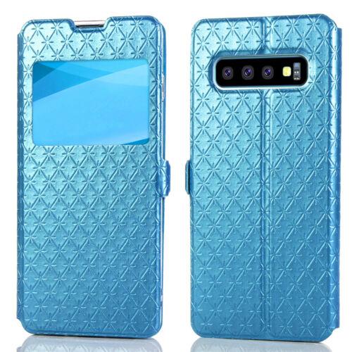 Flipové peněženkové VIEW WINDOW pouzdro pro Samsung Galaxy S7 Edge (SVII G935F) - modré