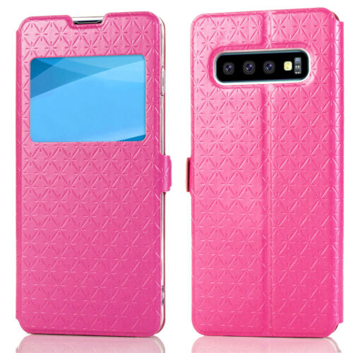 Flipové peněženkové VIEW WINDOW pouzdro pro Samsung Galaxy S7 Edge (SVII G935F) - růžové