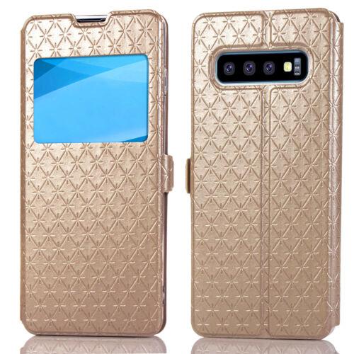 Flipové peněženkové VIEW WINDOW pouzdro pro Samsung Galaxy S7 Edge (SVII G935F) - zlaté
