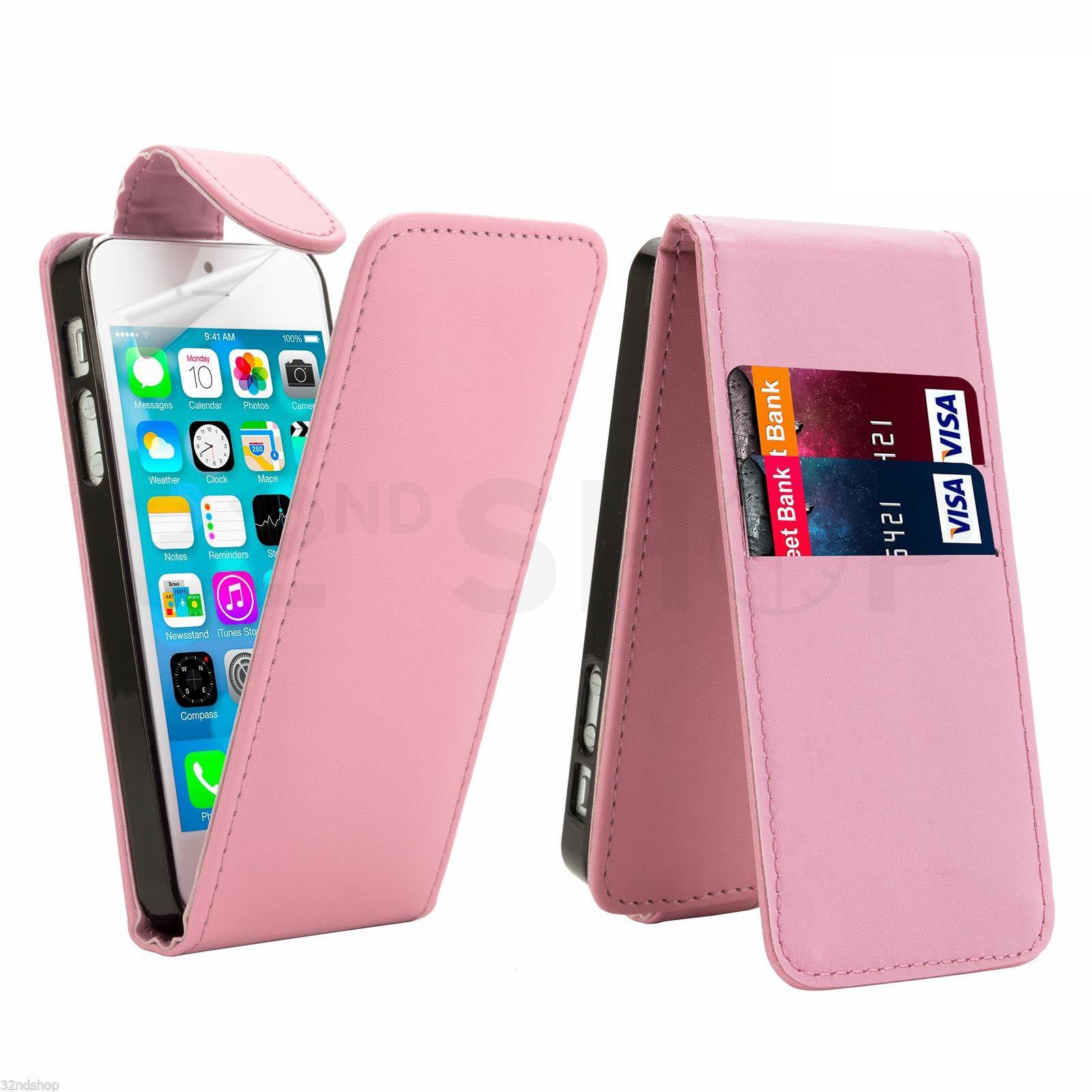 Flipové vertical pouzdro pro Apple iPhone 5 / 5S / SE - růžové