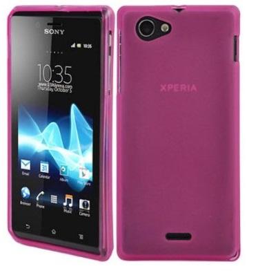 Gelové (silikonové) pouzdro pro Sony Xperia J ST26i - růžové matné