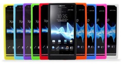 Gelové (silikonové) pouzdro pro Sony Xperia P LT22i - světle modré