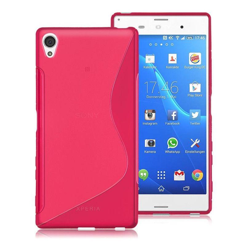 Gelové (silikonové) pouzdro pro Sony Xperia Z3 Compact D5803 - růžové