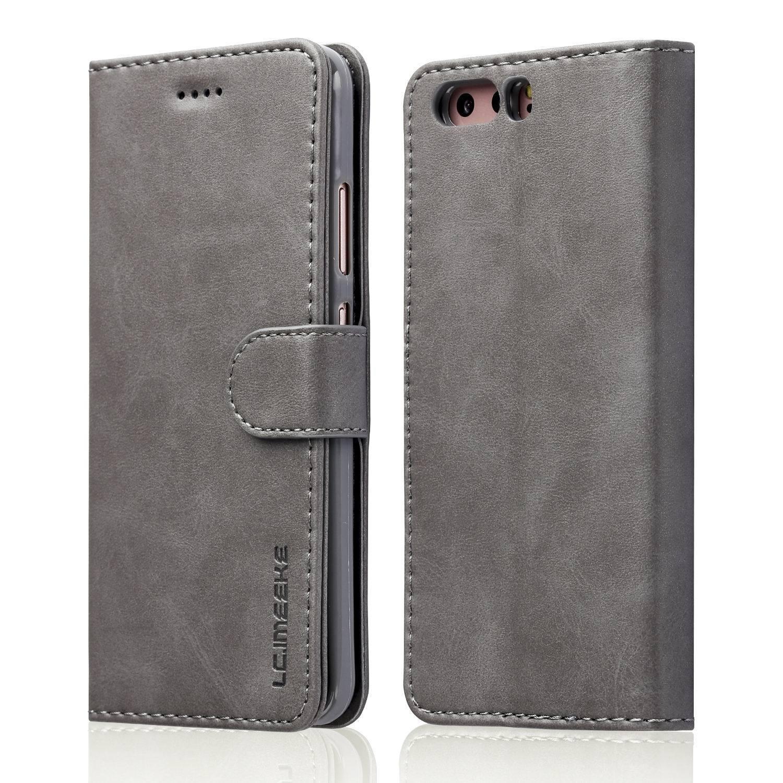 Luxusní flipové peněženkové pouzdro BRUSHED pro Huawei P20 - šedé