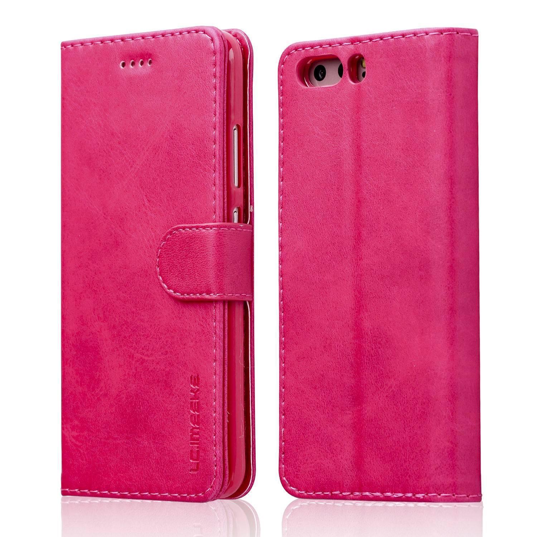 Luxusní flipové peněženkové pouzdro BRUSHED pro Huawei P20 Lite - růžové