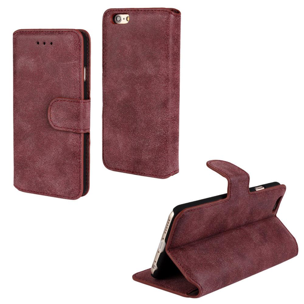 Luxusní flipové peněženkové pouzdro BRUSHED pro Samsung Galaxy Note Edge N9150 - vínové