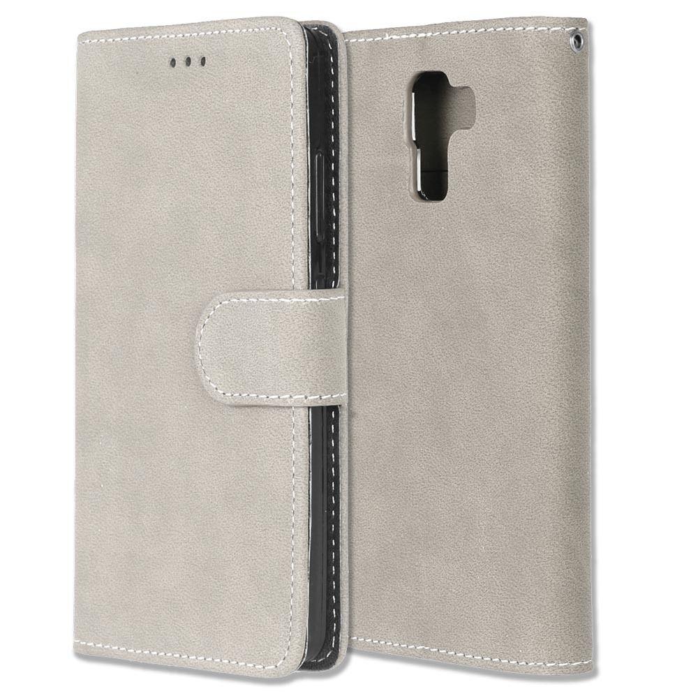 Luxusní flipové peněženkové pouzdro peněženka VINTAGE pro Huawei P20 - šedé