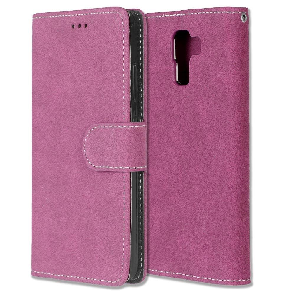 Luxusní flipové peněženkové pouzdro peněženka VINTAGE pro Huawei P20 Lite - růžové